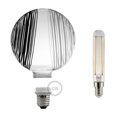Modular LED Dekorativ Ljuskälla Vit med svarta och vita cirklar 5W E27 Dimbar 2700K