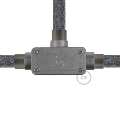 Kopplingsdosa i aluminium, trevägs-T-koppling till Creative-Tube