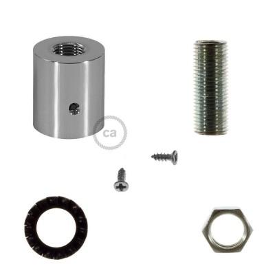 Kromad rörkoppling i metall till 16mm Creative-Tube, inklusive tillbehör