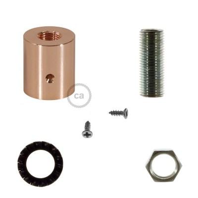 Kopparfärgad rörkoppling i metall till 16mm Creative-Tube, inklusive tillbehör