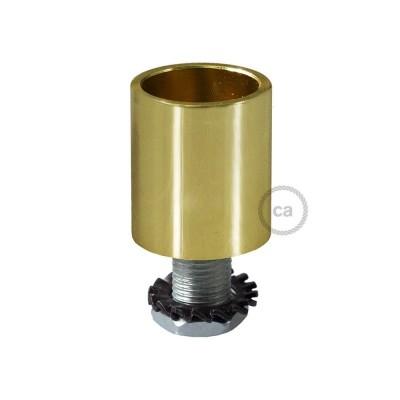 Mässingsfärgad rörkoppling i metall till 16mm Creative-Tube, inklusive tillbehör