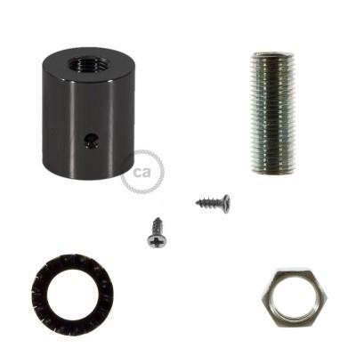 Blackpearl-färgad rörkoppling i metall till 16mm Creative-Tube, inklusive tillbehör