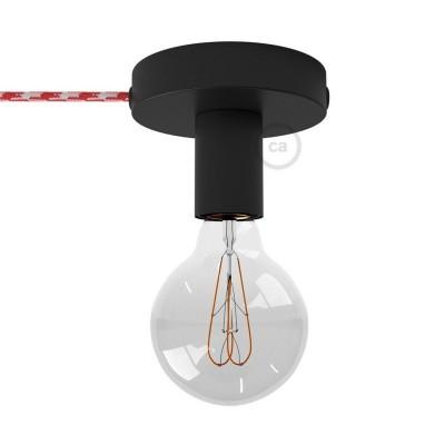 Spostaluce, den svarta metallkoppen med textilkabel och sidohål.