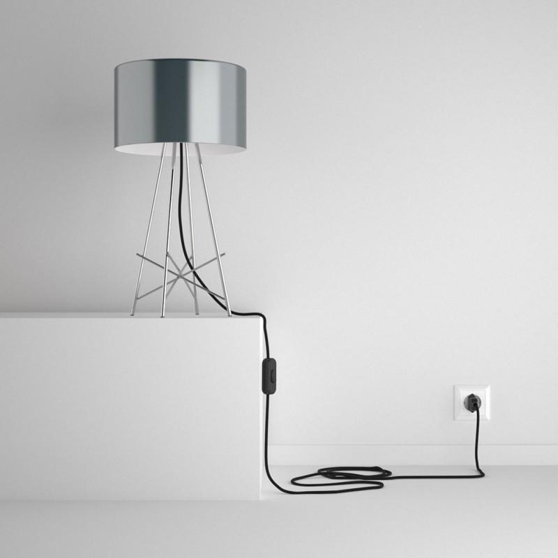 SnakeBis sladdställ med lamphållare - Svart Bomull RC04