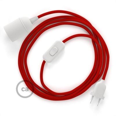 SnakeBis sladdställ med lamphållare - Röd Viskos RM09