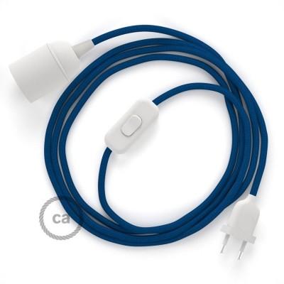 SnakeBis sladdställ med lamphållare - Blå Viskos RM12