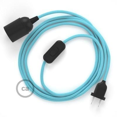 SnakeBis sladdställ med lamphållare - Ljusblå Viskos RM17