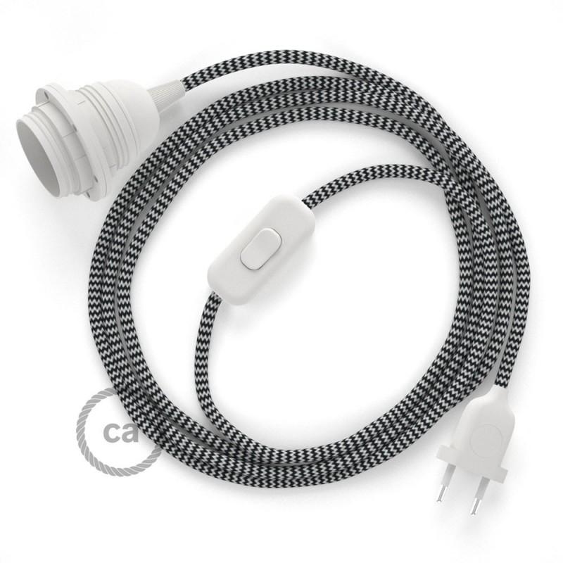 SnakeBis sladdställ med lamphållare - Svart Zig Zag Viskos RZ04