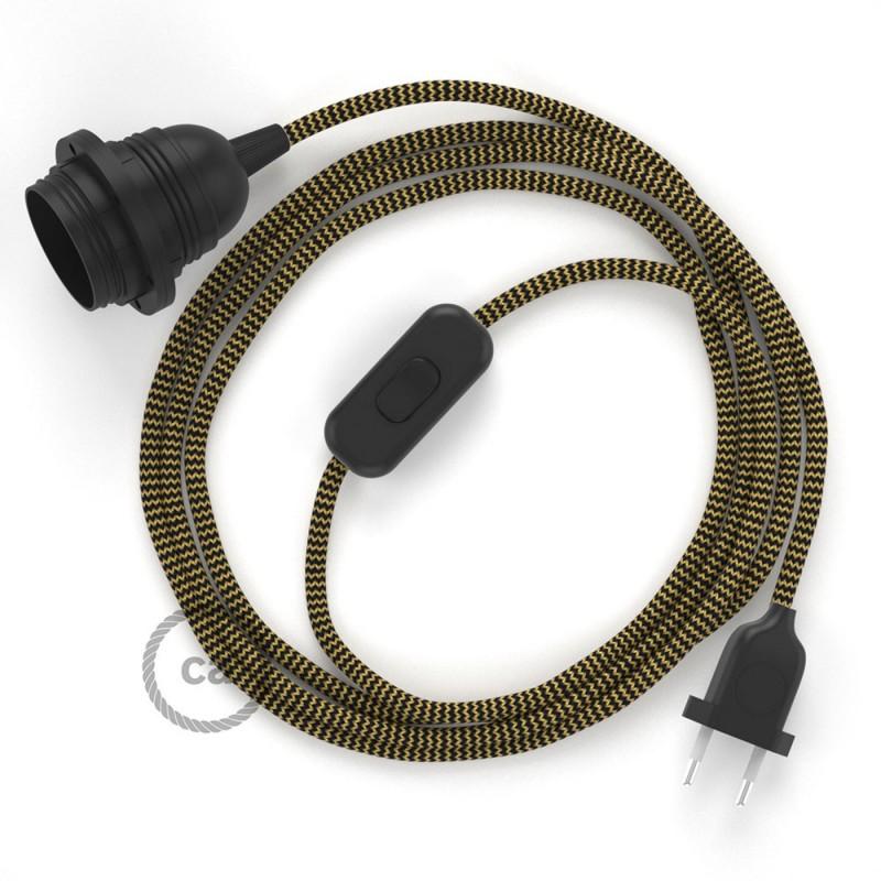 SnakeBis sladdställ med lamphållare - Guld och Svart Viskos RZ24