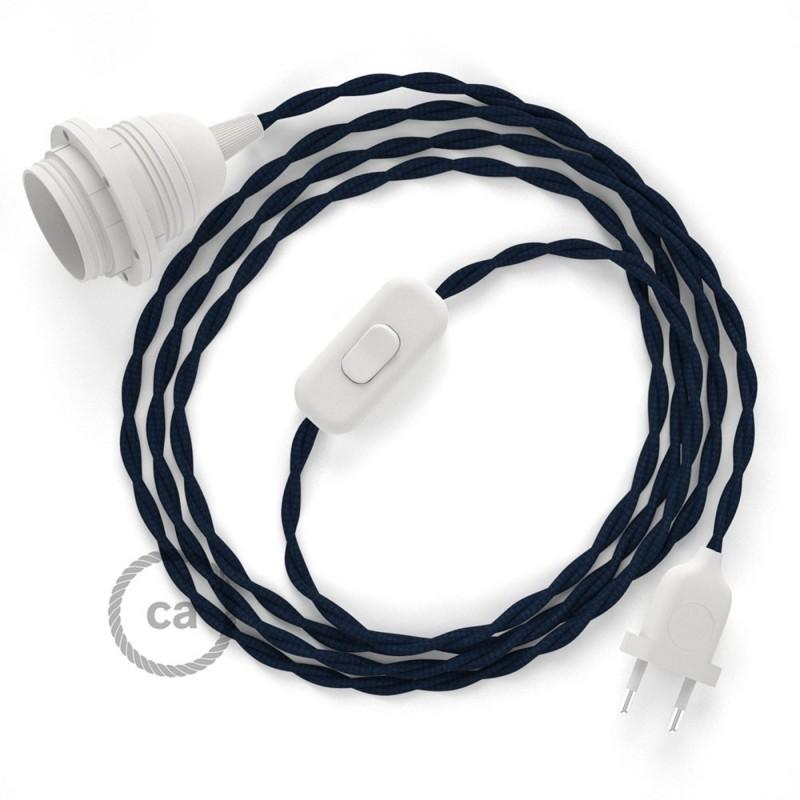 SnakeBis sladdställ med lamphållare - Marinblå Viskos TM20