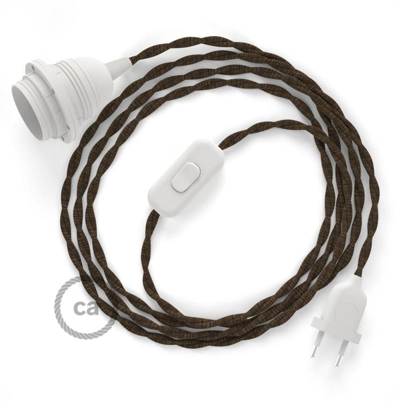 SnakeBis sladdställ med lamphållare - Brun Naturligt linne TN04