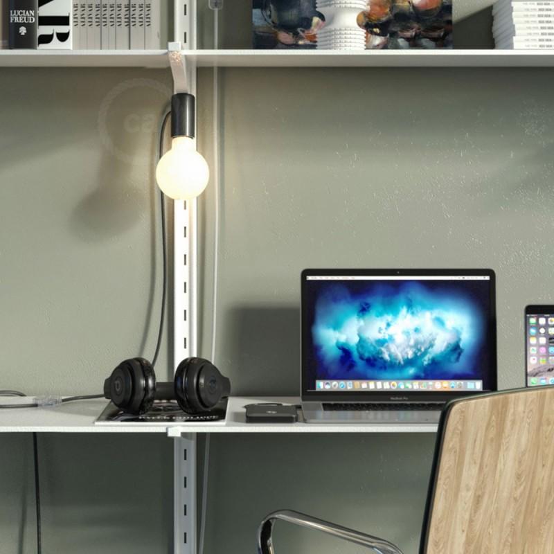 Magnetico®-Plug svart, magnetisk lamphållare, rödo att användas