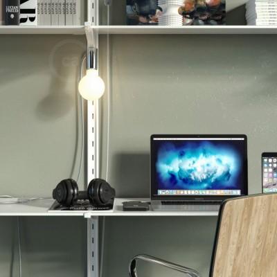Magnetico®-Plug krom, magnetisk lamphållare, rödo att användas