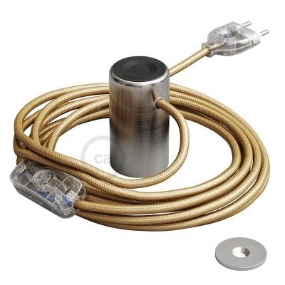 Magnetico®-Plug borstad metall, magnetisk lamphållare, rödo att användas