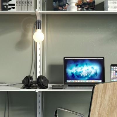 Magnetico®-Plug mörk krom, magnetisk lamphållare, rödo att användas