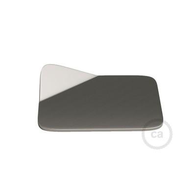 Magnetico®-Base borstad metall, Metallbas för släta ytor för Magnetico®-Plug