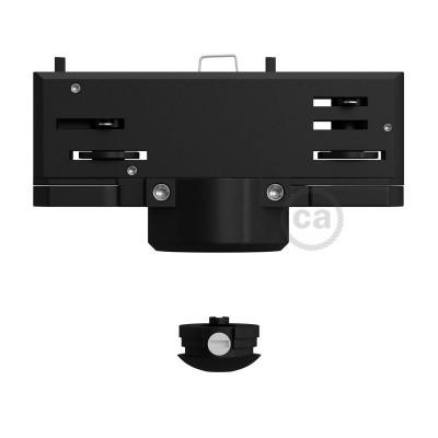 Eutrac Svart Taklampsadapter för 3-fas-skena