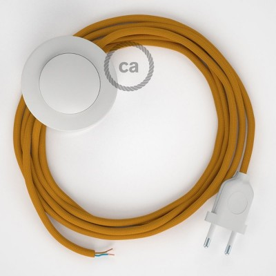 Sladdställ med fotströmbrytare, RM25 Senapsgul Viskos 3 m. Välj färg på strömbrytare och kontakt