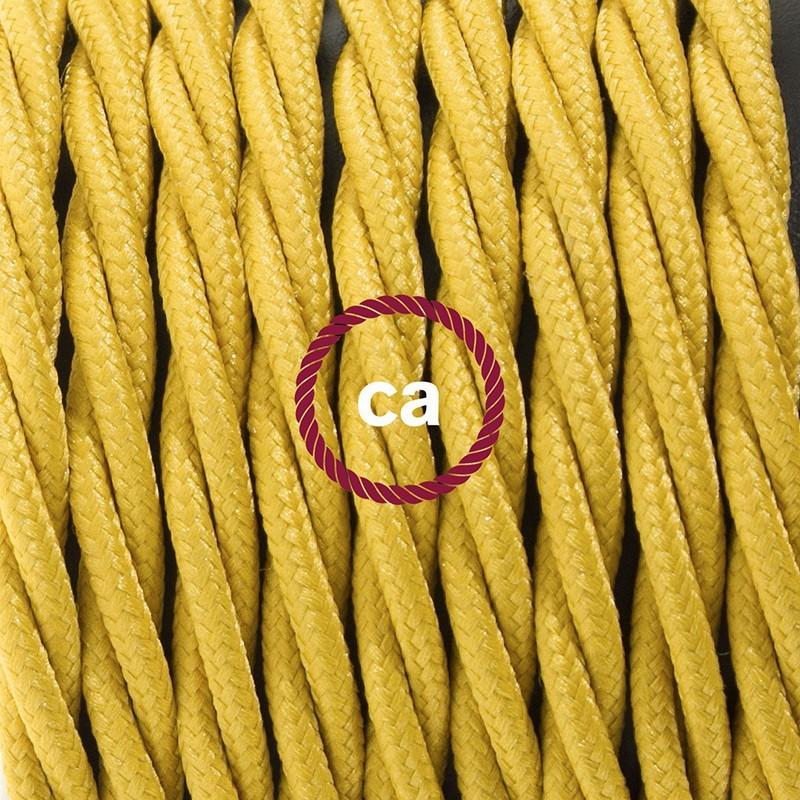 Sladdställ med fotströmbrytare, TM25 Senapsgul Viskos 3 m. Välj färg på strömbrytare och kontakt