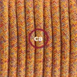 Sladdställ med fotströmbrytare, RX07 Indian Summer Bomull 3 m. Välj färg på strömbrytare och kontakt