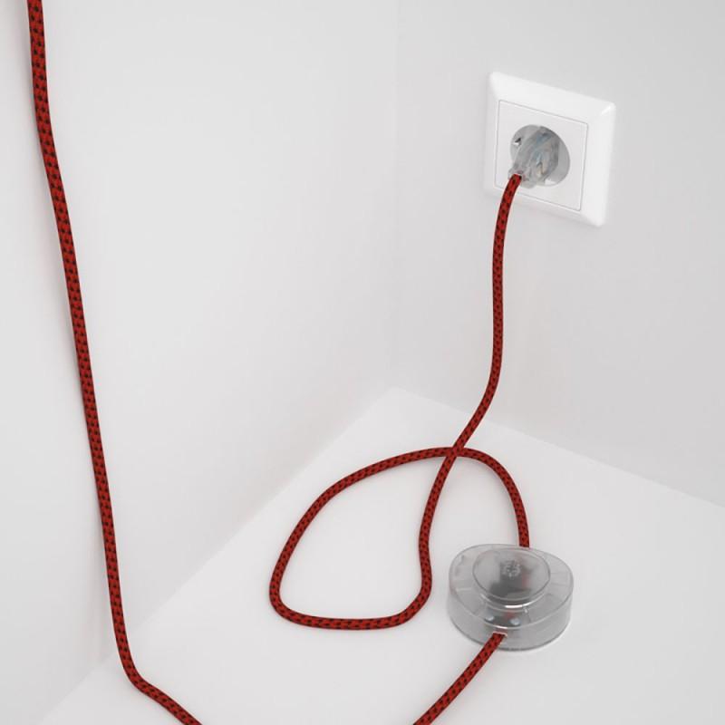 Sladdställ med fotströmbrytare, RT94 Red Devil Viskos 3 m. Välj färg på strömbrytare och kontakt