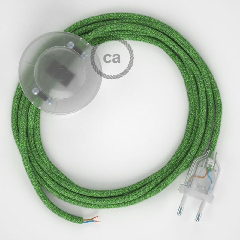 Sladdställ med fotströmbrytare, RX08 Bronte Bomull 3 m. Välj färg på strömbrytare och kontakt