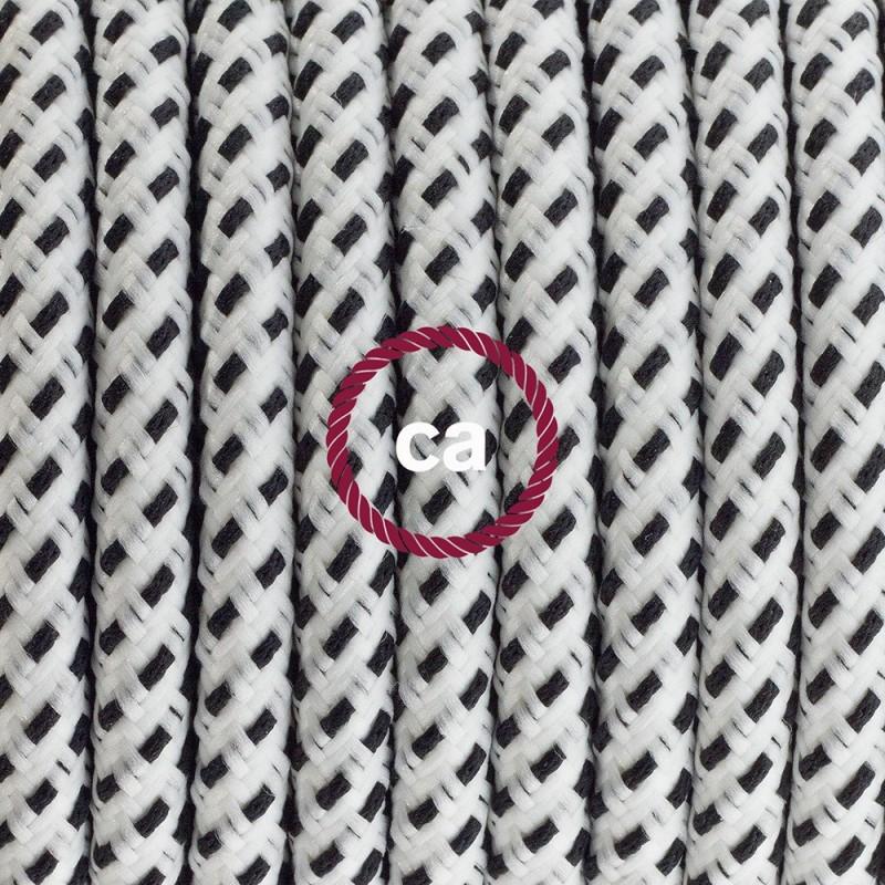Sladdställ med fotströmbrytare, RT14 Stracciatella Viskos 3 m. Välj färg på strömbrytare och kontakt