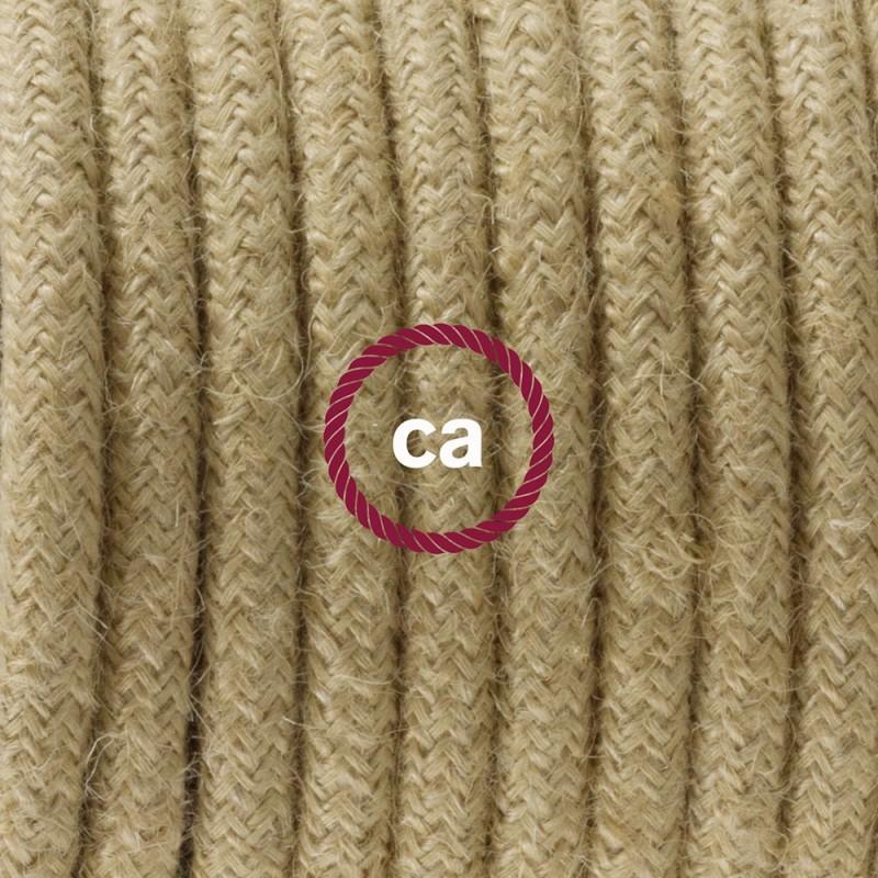Sladdställ med fotströmbrytare, RN06 Jute 3 m. Välj färg på strömbrytare och kontakt