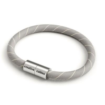 Armband av textilkabel med magnetlås - ERD22 Vertigo Grå/Natur