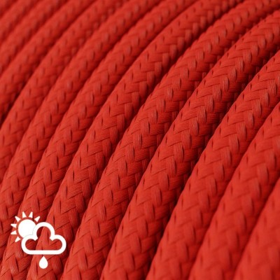 Textilklädd elkabel för utomhusbruk i Röd Viskos SM09