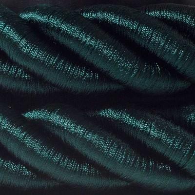 3XL elkabel 3x0,75. Glansig grön textil. Diameter 30mm.