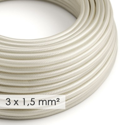 Kraftig rund textilkabel 3x1,50 - Viskos Benvit RM00