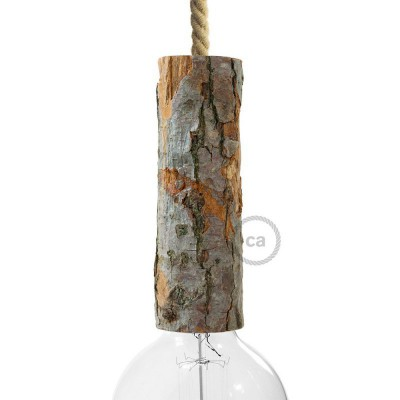 Large bark E27 lamp holder kit