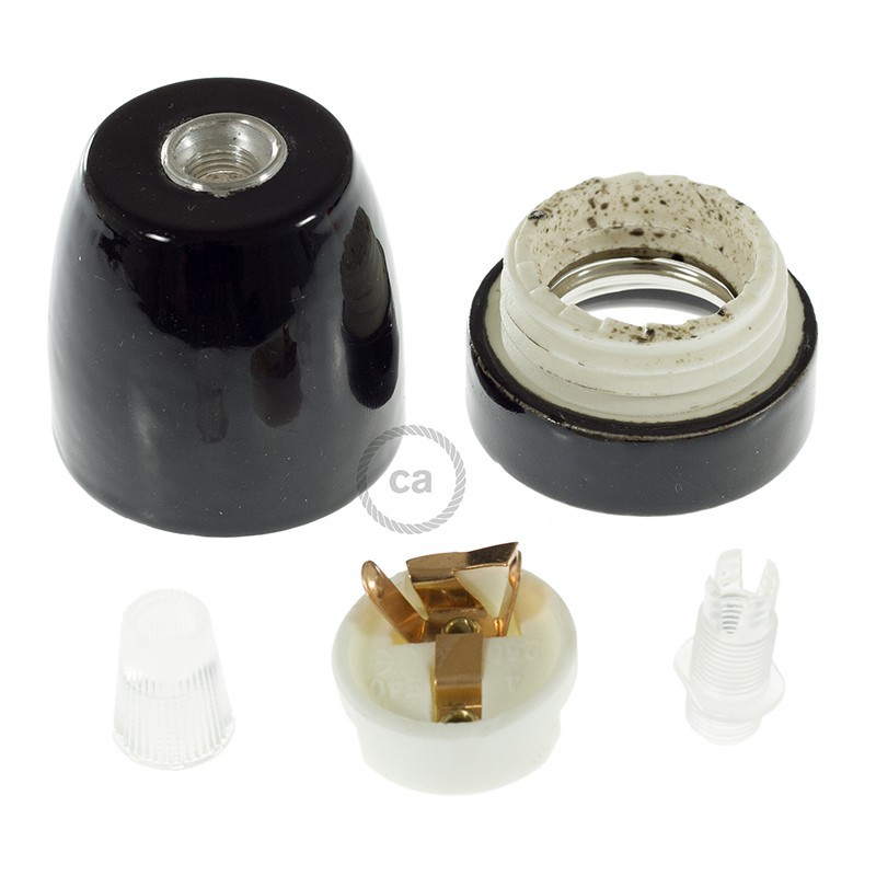 Porcelain E27 lamp holder kit