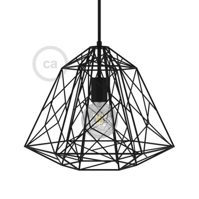 Apollo XL naked cage metal Lampshade with E27 lamp holder