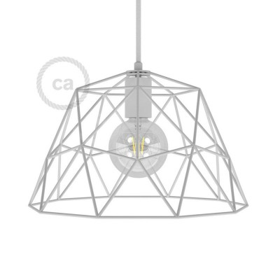 Dome XL naked cage metal Lampshade with E27 lamp holder