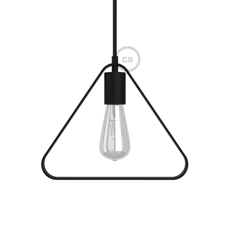 Metal Duedì Apex lampshade with metal lamp holder cover and E27 lamp holder