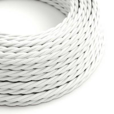 Tvinnad textilkabel TM01 - Vit