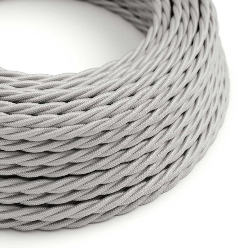 Tvinnad textilkabel TM02 - Silver
