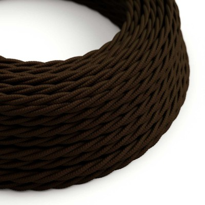 Tvinnad textilkabel TM13 - Brun