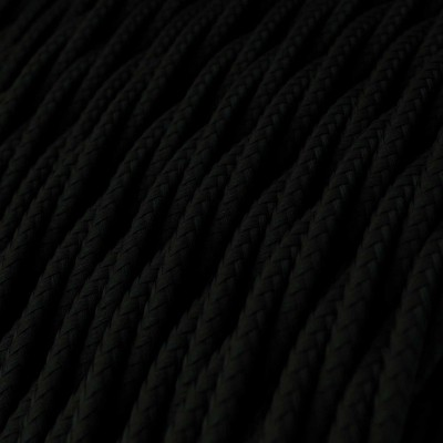 Tvinnad textilkabel TM04 - Svart