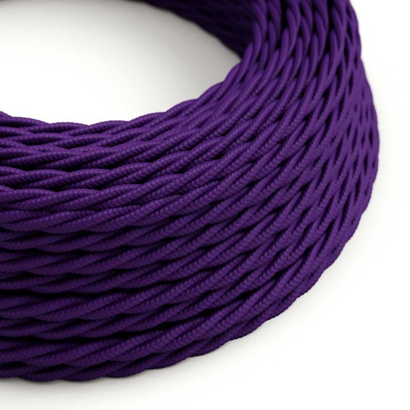Tvinnad textilkabel TM14 - purple
