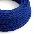 Tvinnad textilkabel TM12 - Blå