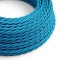 Tvinnad textilkabel TM11 - Azurblå