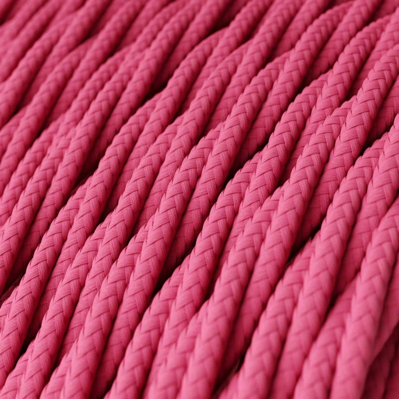 Tvinnad textilkabel TM08 - Fuchsia
