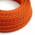 Tvinnad textilkabel TM15 - Orange