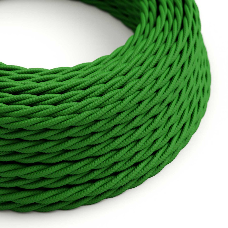 Tvinnad textilkabel TM06 - Grön