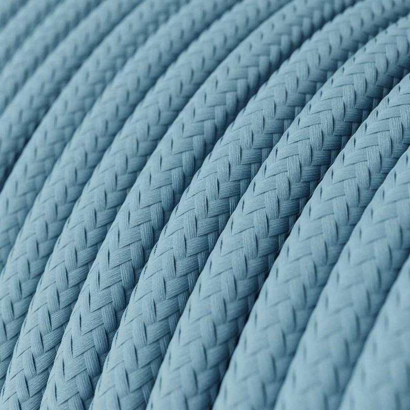 Rund textilkabel RM17 - Ljusblå