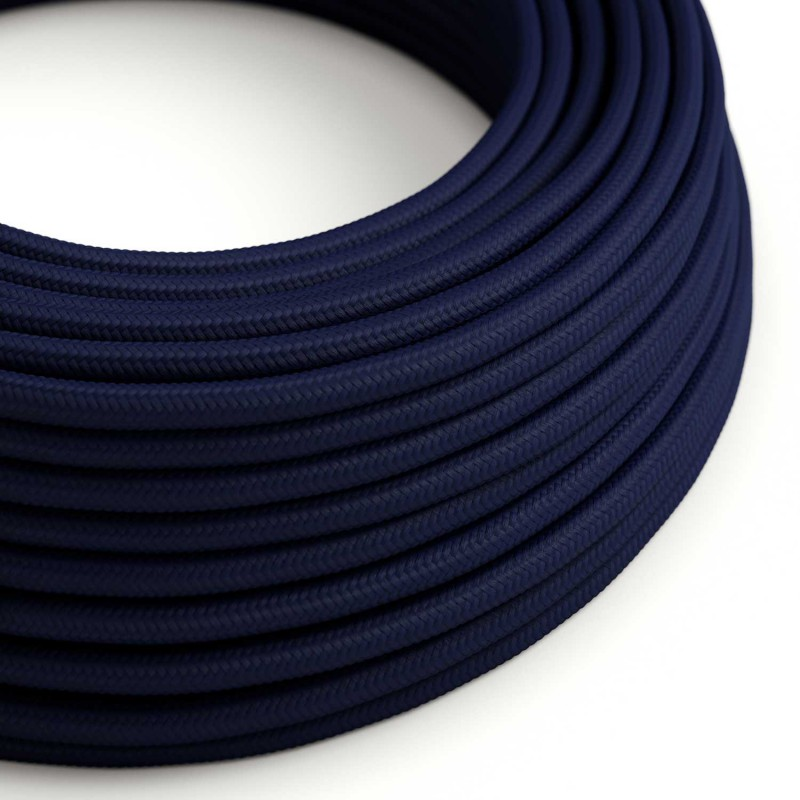 Rund textilkabel RM20 - Marinblå