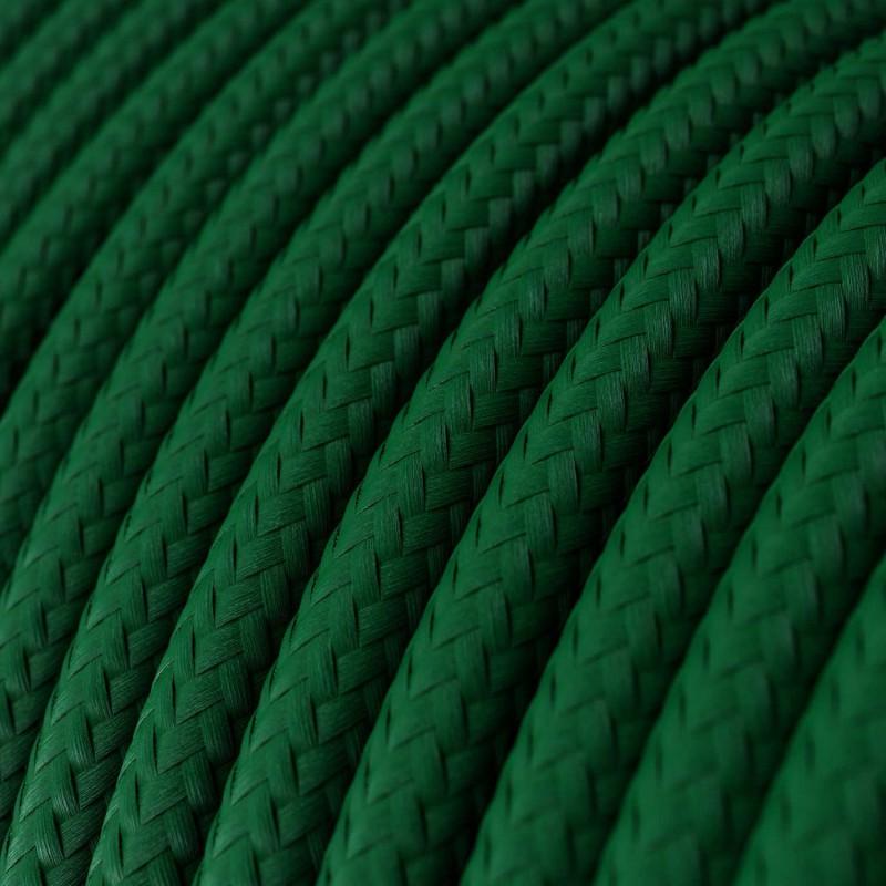 Rund textilkabel RM21 - Mörkgrön